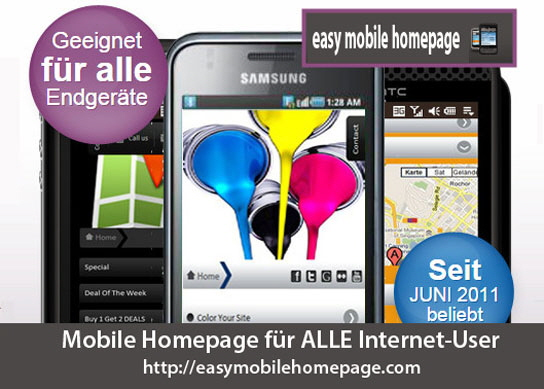 easy mobile homepage